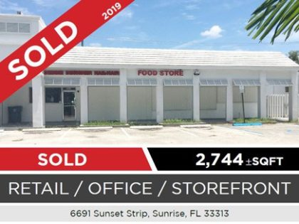 CCIM Completes Sale of Retail Space in Sunrise