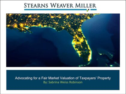 """Presentation: """"Advocating for a Fair Market Valuation of Taxpayers' Property"""""""