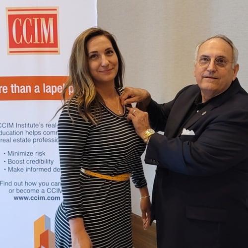 Gary M. Ralston, CCIM Pinning Daughter Lauren Ralston-Gengler, CCIM